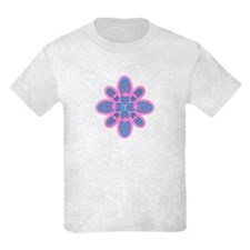 Pink and Blue Boot Floral Hiker T-Shirt