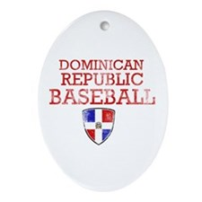 Dominican Republic Baseball Ornament (Oval)