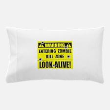 WARNING: Zombie Kill Zone Pillow Case