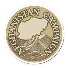 Afghanistan Campaign Round Car Magnet