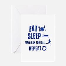 Eat Sleep American Football Greeting Card