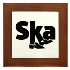 SKA Dancing Feet Framed Tile