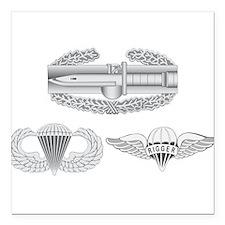 """CAB Airborne Rigger Square Car Magnet 3"""" x 3"""""""