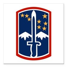 "172nd Infantry Square Car Magnet 3"" x 3"""