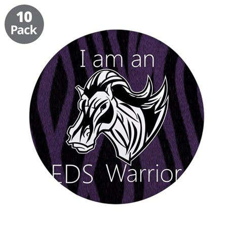 "I am a warrior.png 3.5"" Button (10 pack)"