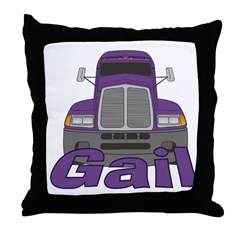Trucker Gail Throw Pillow