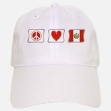 Peace, Love and Peru Baseball Baseball Cap