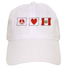 Peace, Love and Peru Baseball Cap