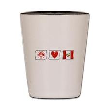 Peace, Love and Peru Shot Glass