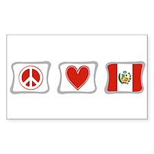 Peace, Love and Peru Decal