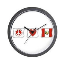 Peace, Love and Peru Wall Clock
