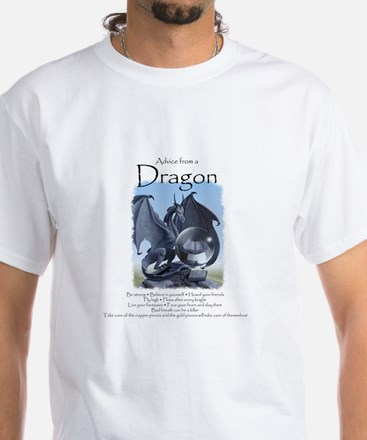Advice from a Dragon White T-Shirt
