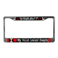 Polish Lowland Sheepdog Gifts License Plate Frame