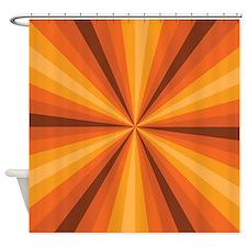 Orange Illusion Shower Curtain