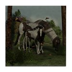 Painted Horse and Foal Tile Coaster
