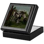 Painted Horse and Foal Keepsake Box