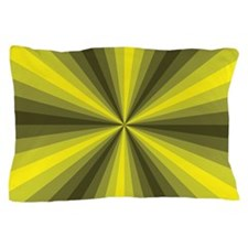 Yellow Illusion Pillow Case