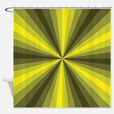 Yellow Illusion Shower Curtain