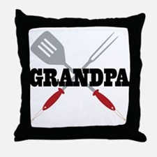 Grandpa BBQ Grilling Throw Pillow