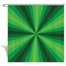 Green Illusion Shower Curtain
