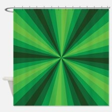 Green Illusion Shower Curtain