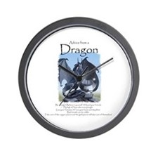 Advice from a Dragon Wall Clock