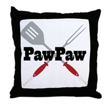 PawPaw BBQ Grilling Throw Pillow