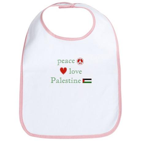Peace, Love and Palestine Bib