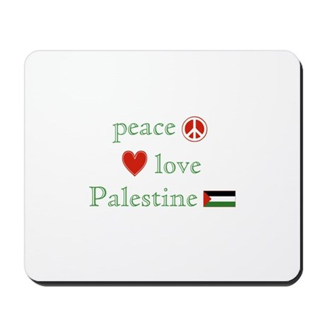 Peace, Love and Palestine Mousepad