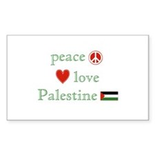 Peace, Love and Palestine Decal