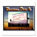 Rosecrans Drive-In Square Car Magnet 3