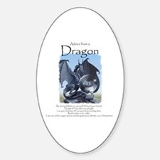 Advice from a Dragon Sticker (Oval)