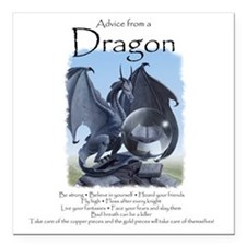 "Advice from a Dragon Square Car Magnet 3"" x 3"""