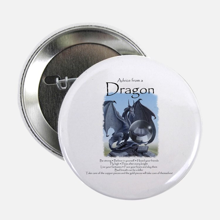 """Advice from a Dragon 2.25"""" Button"""