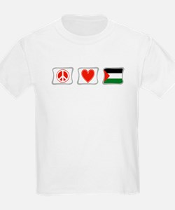 Peace, Love and Palestine T-Shirt
