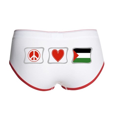 Peace, Love and Palestine Women's Boy Brief