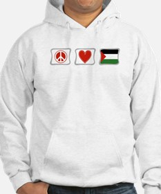 Peace, Love and Palestine Hoodie