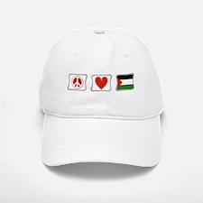 Peace, Love and Palestine Baseball Baseball Cap