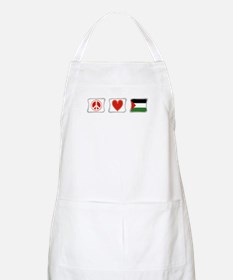 Peace, Love and Palestine Apron