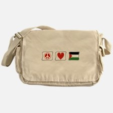 Peace, Love and Palestine Messenger Bag