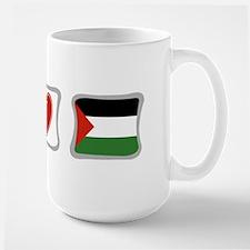 Peace, Love and Palestine Mug