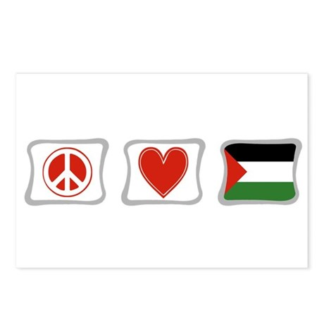 Peace, Love and Palestine Postcards (Package of 8)