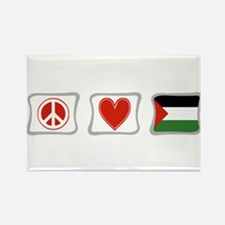 Peace, Love and Palestine Rectangle Magnet