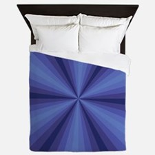 Blue Illusion Queen Duvet