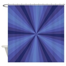 Blue Illusion Shower Curtain