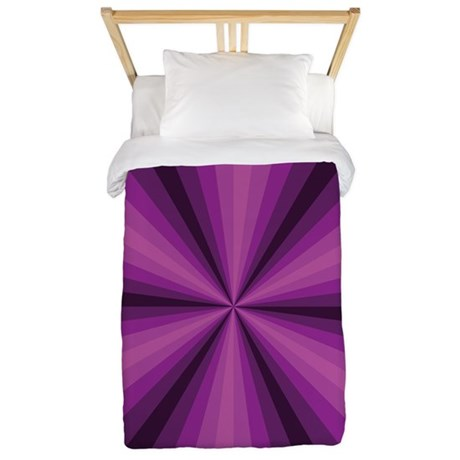 Purple Illusion Twin Duvet