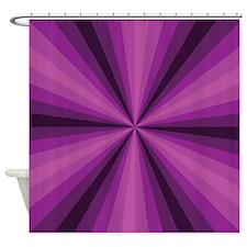 Purple Illusion Shower Curtain