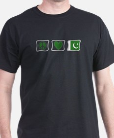 Peace, Love and Pakistan T-Shirt
