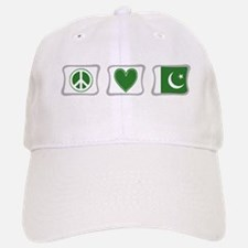 Peace, Love and Pakistan Baseball Baseball Cap