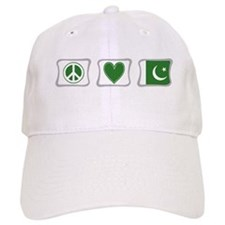 Peace, Love and Pakistan Baseball Cap